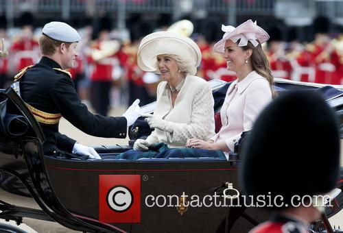 Kate Middleton, The Duchess Of Cambridge, Camilla, The Duchess Of Cornwall and Prince Harry 8