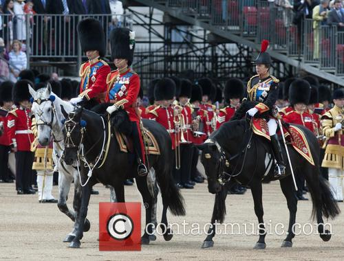 Prince Charles, Prince William and Princess Anne 1