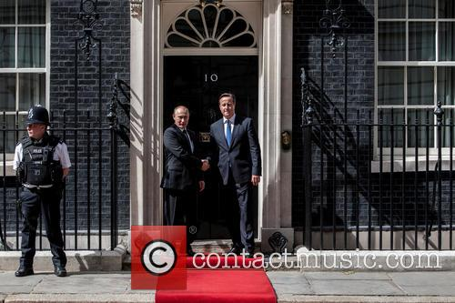 Prime Minister David Cameron meets Russian President Vladimir...