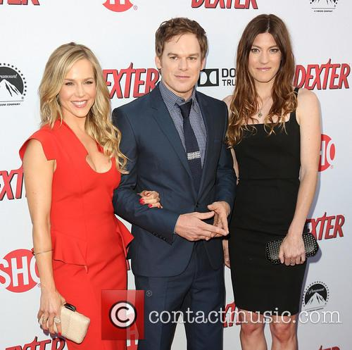 Julie Benz, Michael C. Hall and Jennifer Carpenter 8