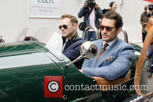 David Gandy leaving the Topman Design show