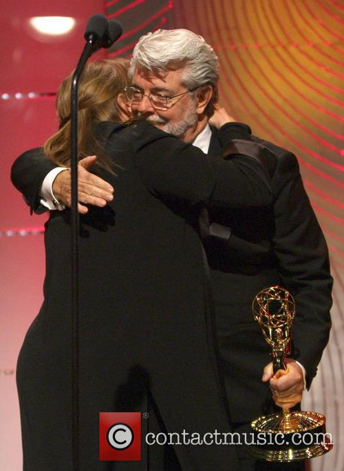 Carrie Fisher and George Lucas 6