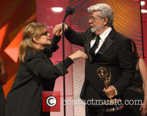 Carrie Fisher and George Lucas 8
