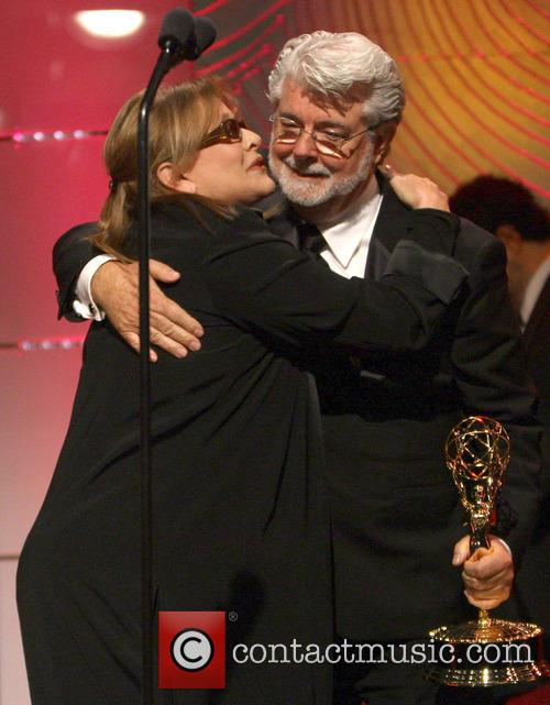 Carrie Fisher and George Lucas 9