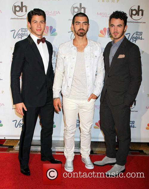 The Jonas Brothers at the Miss USA pageant