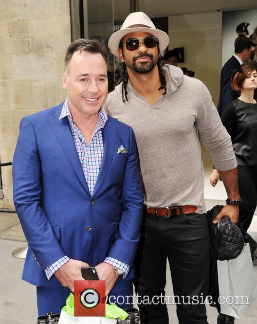 David Furnish and David Haye 2