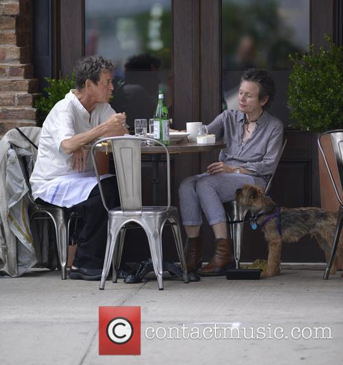 Lou Reed and Laurie Anderson seen having lunch