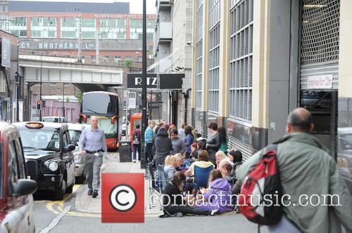 Mark Owen fans queue outside the Ritz Manchester
