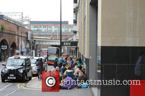 Mark Owen fans queue outside the Ritz Manchester