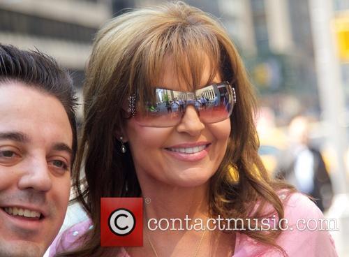 Sarah Palin and her husband outside of Fox News Studios