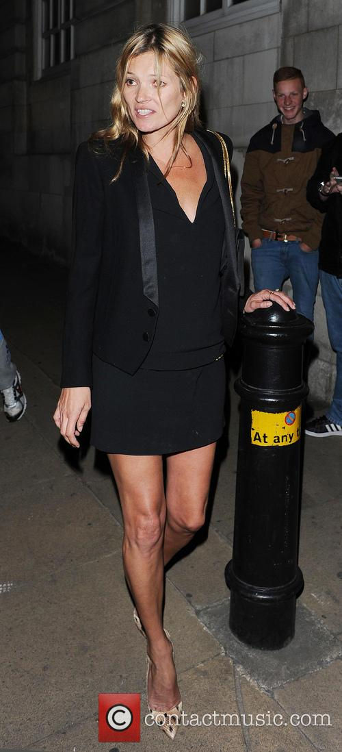 Kate Moss leaving Loulou's private members club