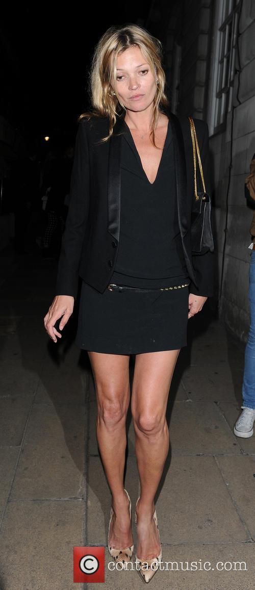 Kate Moss leaving Loulou's private members club