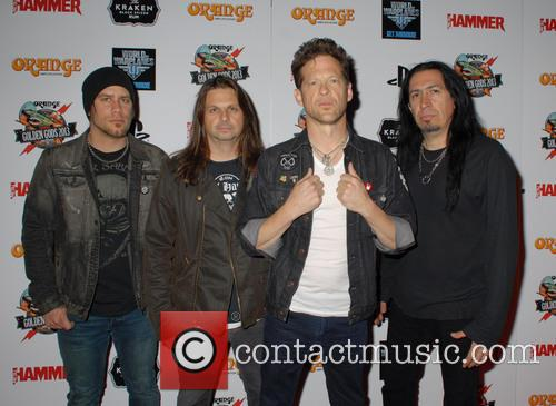 Jessie Farnsworth, Mike Mushok, Jason Newsted and Jesus Mendez Jr Of Newsted 8