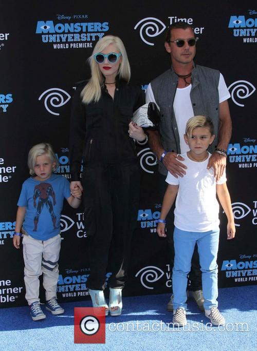 Gwen Stefani, Gavin Rossdale, Kingston Rossdale and Zuma Nesta Rock Rossdale 2