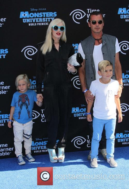 Gwen Stefani, Gavin Rossdale, Kingston Rossdale and Zuma Nesta Rock Rossdale 1
