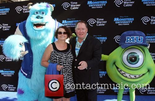 John, Nancy Lasseter, Monsters University Premiere
