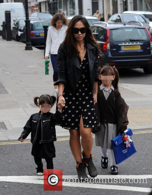 Myleene Klass, Hero and Ava 7