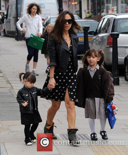 Myleene Klass, Hero and Ava 8