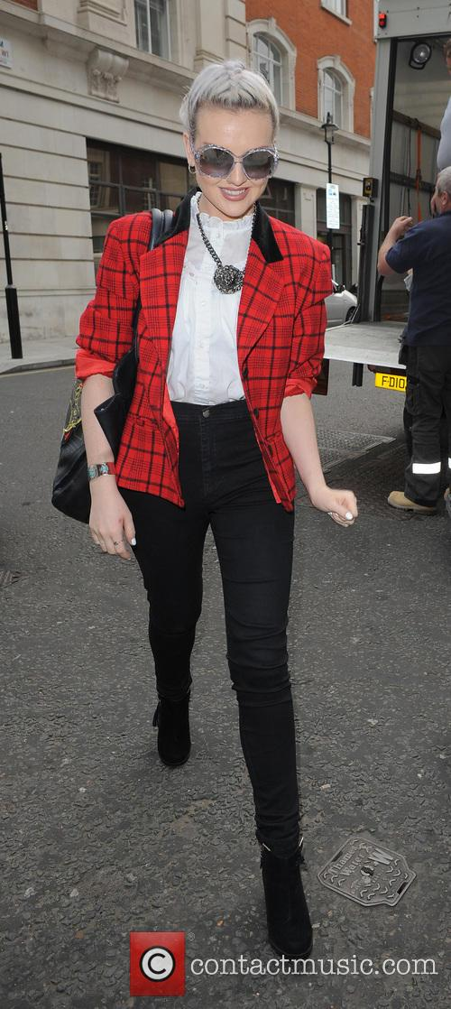 perrie edwards celebrities outside the bbc radio 3724454