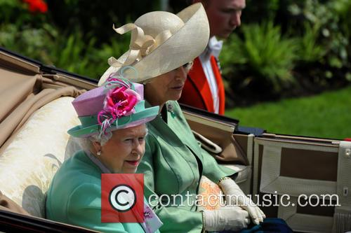 Queen Elizabeth II, Camilla and Duchess of Cornwall 2