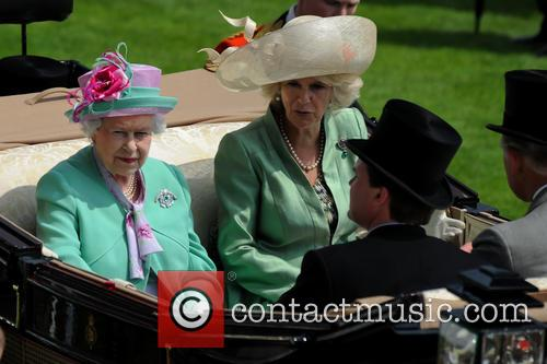 Queen Elizabeth II, Camilla and Duchess of Cornwall 1