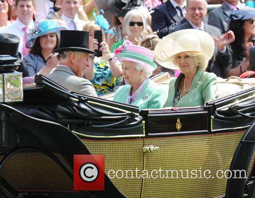 Queen Elizabeth II, Camilla, Duchess of Cornwall, Charles, Prince of Wales, Royal Ascot