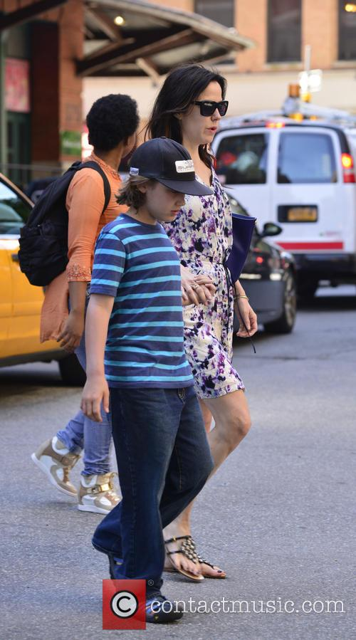 Mary Louise Parker and her children are seen...