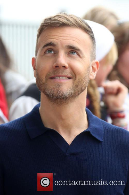 Gary Barlow X Factor Blue Shirt