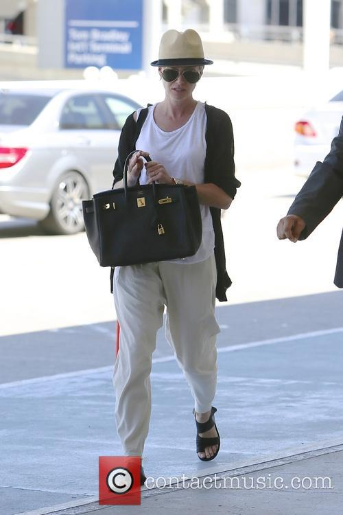 Portia de Rossi At LAX Airport