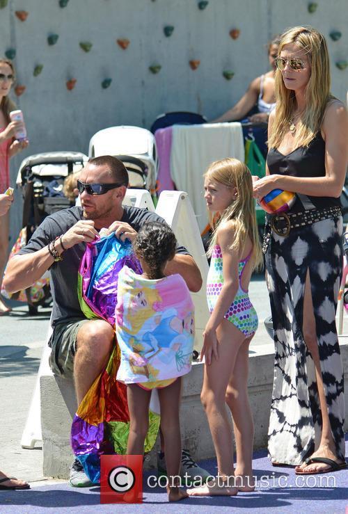 Heidi Klum and her boyfriend take her children...