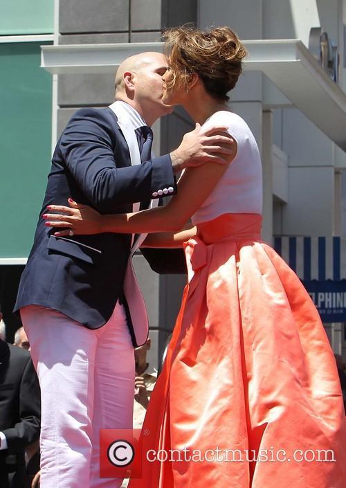 Jennifer Lopez, Pitbull, On The Hollywood Walk Of Fame