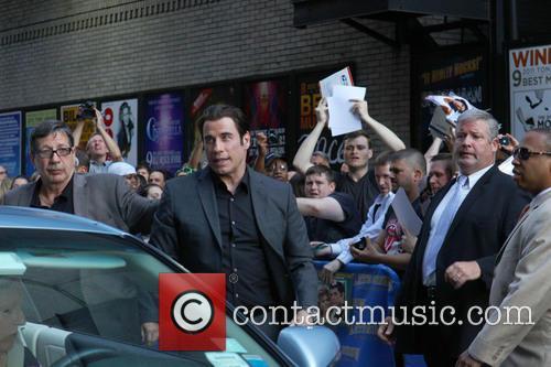 John Travolta, fans, Ed Sullivan Theater, The Late Show