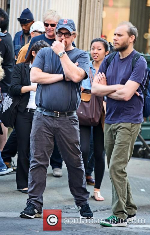 Comedian Louis C.K. seen out and about