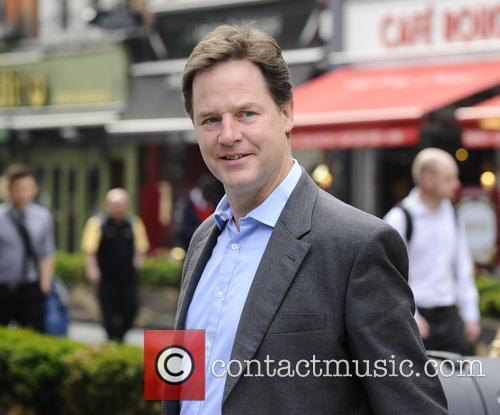 Nick Clegg arrives at Capital Radio