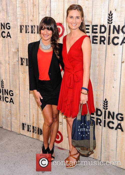 Lea Michele and Lauren Bush-Lauren 1