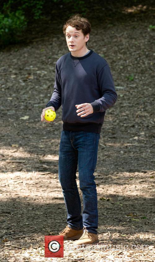 Anton Yelchin Filming On Location