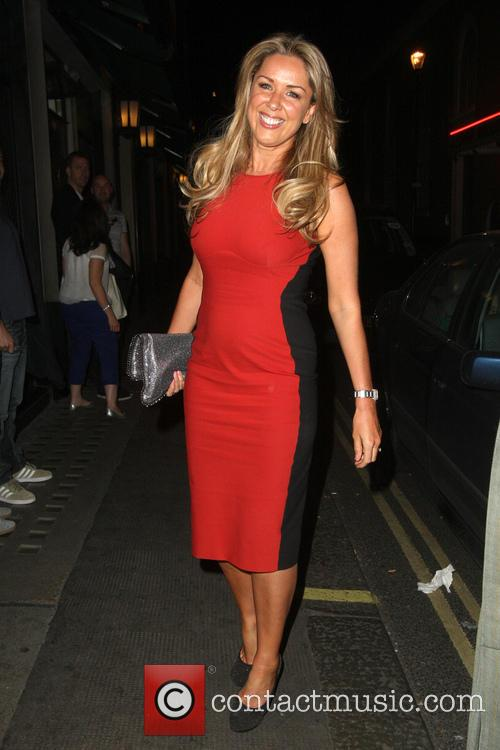 Claire Sweeney at The Ivy