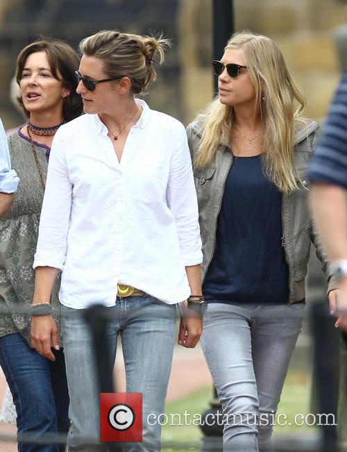 Chelsy Davy at Alnwick Castle following a rehearsal...