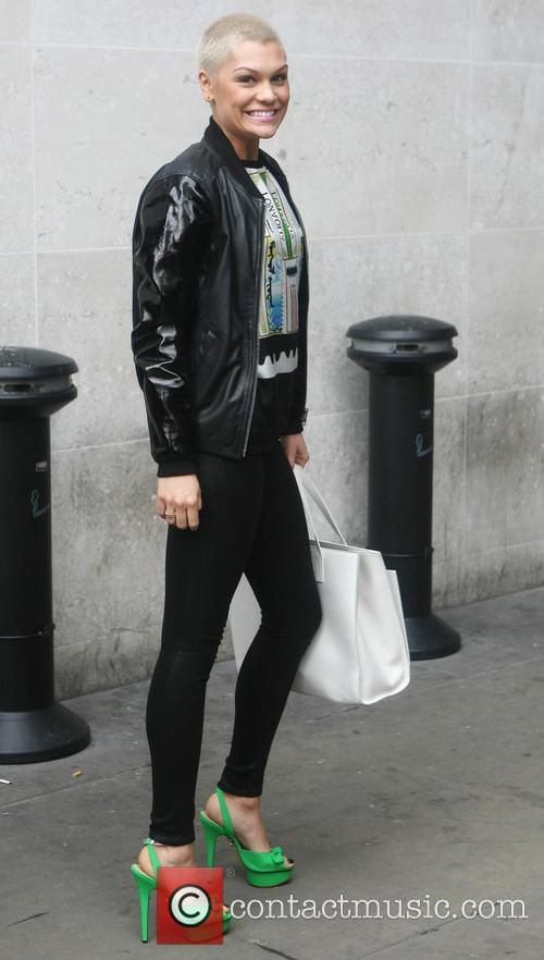 jessie j celebrities outside the bbc radio 3729017