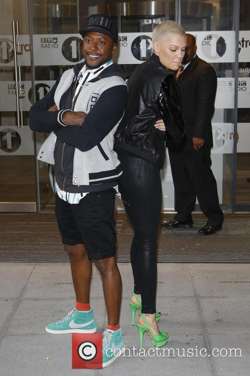 will i am jessie j celebs at radio 3729229