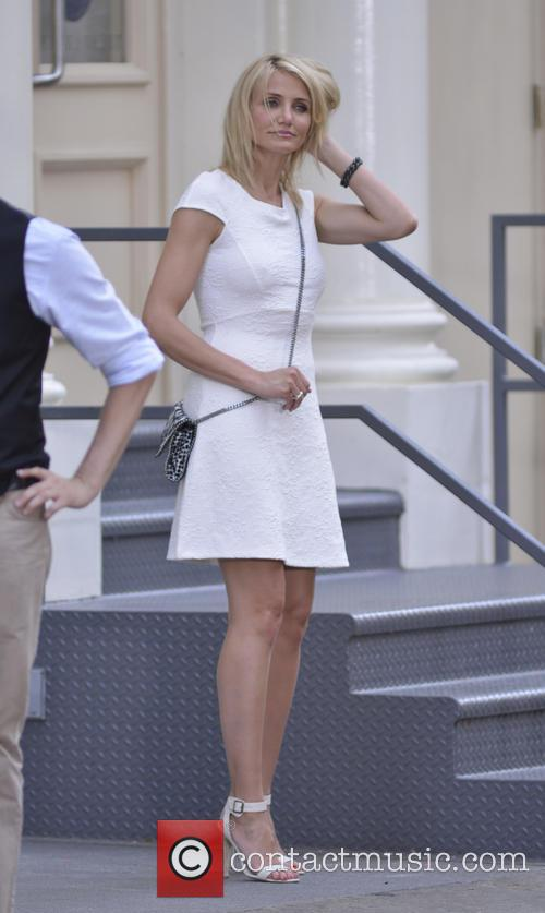 Cameron Diaz, The Other Woman Set