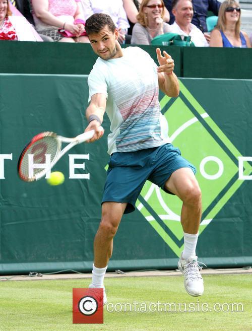 Tennis, Grigor Dimitrov, Stoke Park in Buckinghamshire
