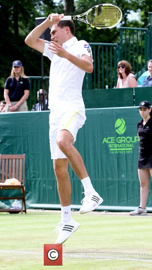 Tennis, Jerzy Janowicz, Stoke Park in Buckinghamshire