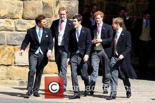 Thomas Van Straubenzee, Prince Harry and Guy Pelly 1