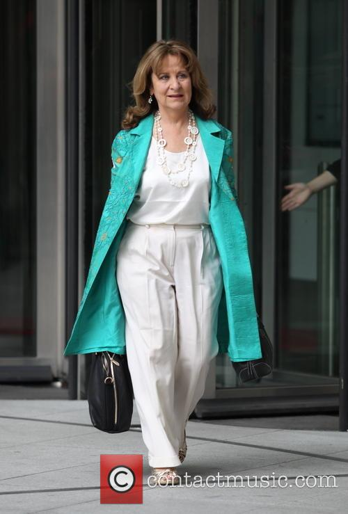 Baroness Helena Kennedy leaves BBC New Broadcasting House