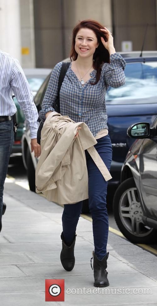 Hayley Westenra arriving at the BBC Radio Two...