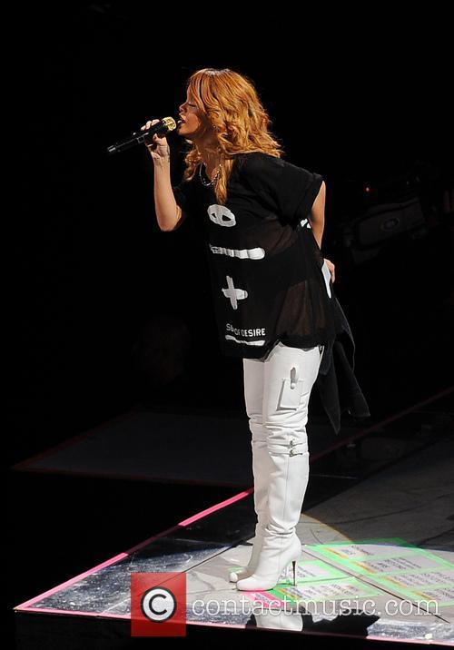 Rihanna performs live at the Ziggo Dome