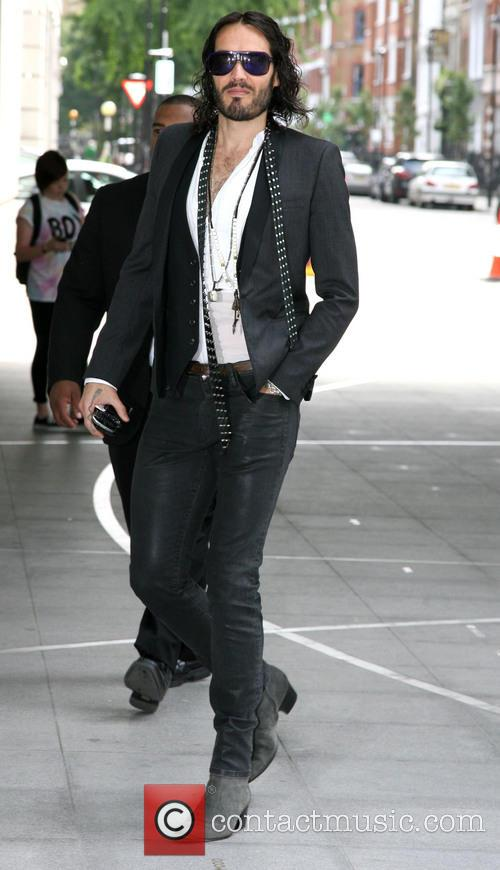 Russell Brand arrives at the BBC studios