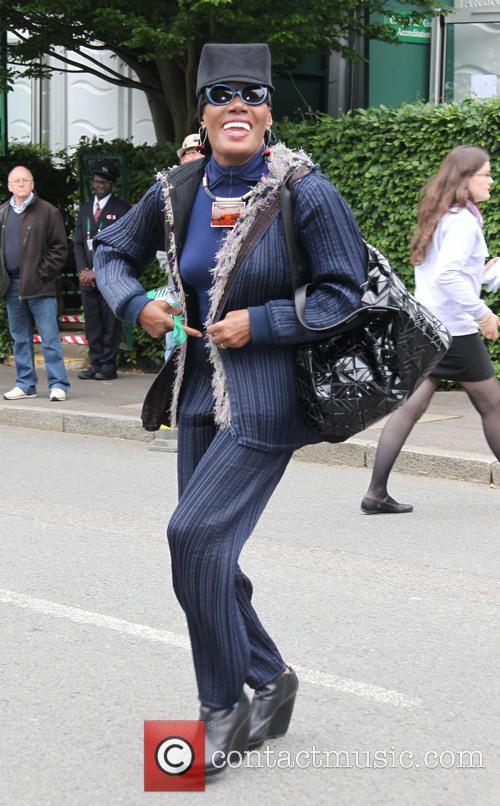 Celebrities arrive at Wimbledon 2013