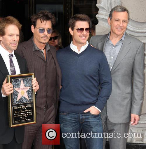 Johnny Depp, Jerry Bruckheimer and Tom Cruise 1